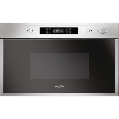 WHIRLPOOL AMW 440/IX Built-In Stainless Steel Microwave 22L, 750W New • 260£