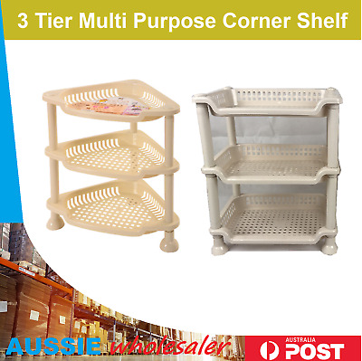 AU14.45 • Buy Shower Shelf Caddy Corner Shelves Storage Rack Organiser Kitchen Bathroom Tier