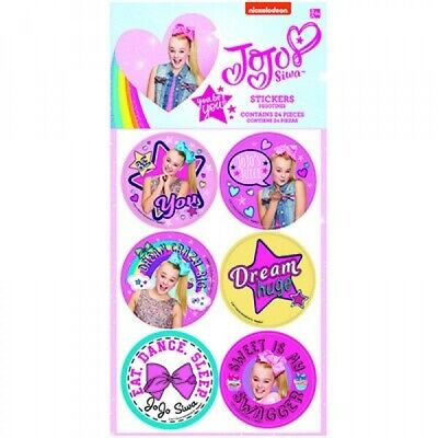 AU4.99 • Buy Jojo Siwa Party Supplies 24 Stickers Loot Bag Favours Birthday Party Girl
