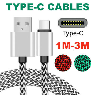 AU8.23 • Buy Type-C USB Charger Cable Lead Cord 2M 3M Long For Samsung Galaxy S8 Plus Note S9
