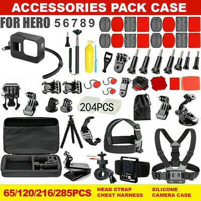 AU28.99 • Buy GoPro Hero 9 8 7 6 5 4 Accessories Pack Case Chest Head Floating Monopod