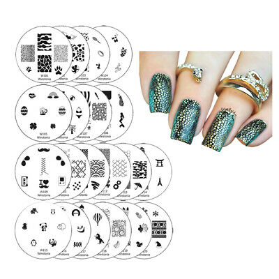 $9.95 • Buy Winstonia Nail Art Stamping Plates Set Stamp Disc Manicure 1ST GEN Template Gel