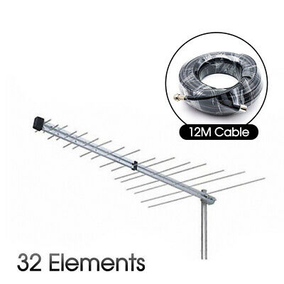 AU22.99 • Buy New TV Antenna 32 Element Log Periodic Outdoor UHF VHF FM HDTV Digital Aerial