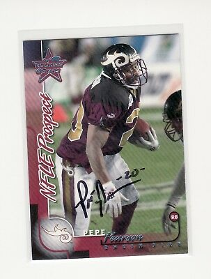 $ CDN26.46 • Buy Pepe Pearson Rhein Fire Nfl Europe Autographed Card Ohio State