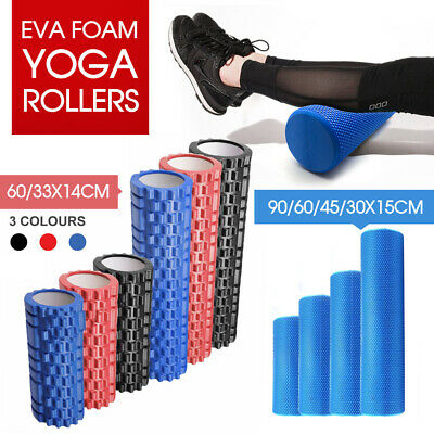 AU28.99 • Buy 30/45/60/90 Cm Eva Physio Foam Roller Yoga Pilates Gym Trigger Point Massage