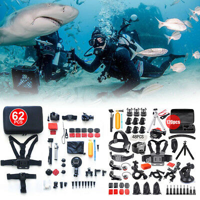 AU30.99 • Buy Accessories Pack Case For GoPro Go Pro HD Hero 8 7 6 5 4 3+  Chest Head Monopod