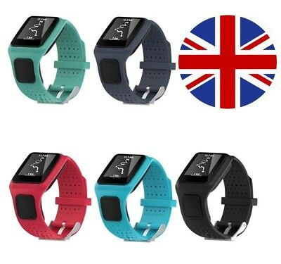 TomTom 1 Runner Golfer One Replacement Watch Strap Silicone Band - Metal Buckle  • 12.95£