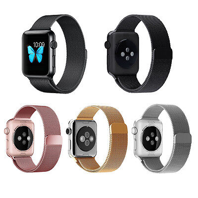 AU15.99 • Buy 42/44mm Milanese Magnetic Loop Stainless Steel Strap Band For Apple Watch 5 4 3
