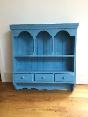 Beautiful Painted Pine Wall Dresser In Annie Sloan Giverney And White Wax • 80£