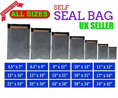 Grey Mailing Bags Strong Poly Postal Post Postage Mail Self Seal All Sizes Cheap • 4.64£