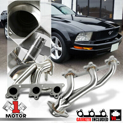 $88.98 • Buy Stainless Steel Shorty Exhaust Header Manifold For 05-10 Ford Mustang 4.0 245 V6