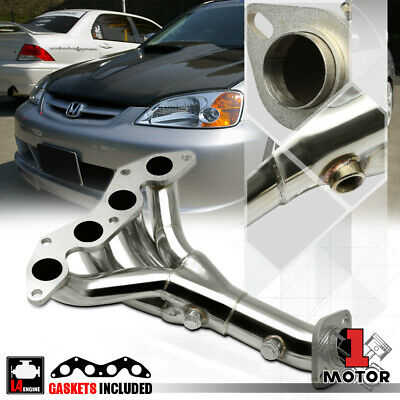 $54.89 • Buy Stainless Steel 4-1 Exhaust Header Manifold For 01-05 Honda Civic DX/LX 1.7 D17A