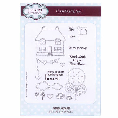 Creative Expressions A5 Clear Stamp Set - CEC755 New Home • 13.49£