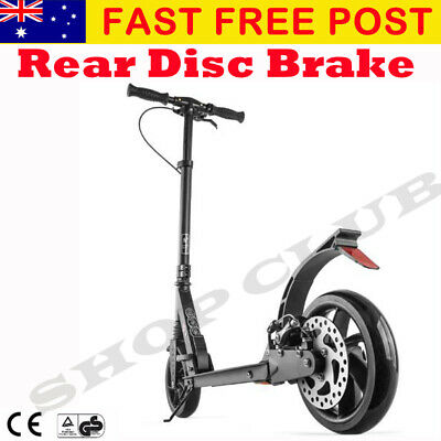 AU118.95 • Buy New BEST Adult Folding Suspension Kick Scooter + Hand Disc Brake Large Wheels