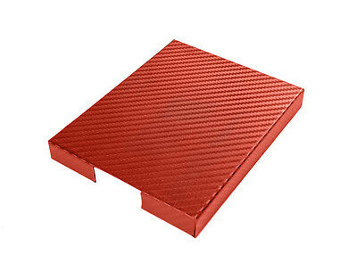 $29.95 • Buy 1998-2004 Mustang Red Carbon Fiber Stainless Steel Engine Fuse Box Cover