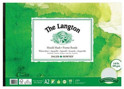 Daler Rowney Langton Watercolour Pad - 140lb / 300gsm - Cold Pressed /NOT - A2 • 32.99£