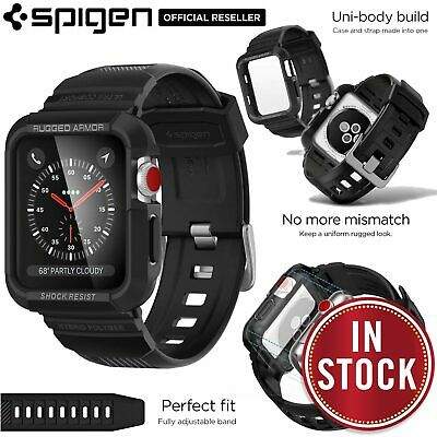 AU35.99 • Buy For Apple Watch Series 3 2 1 42mm Case SPIGEN Rugged Armor Pro Cover Strap Band