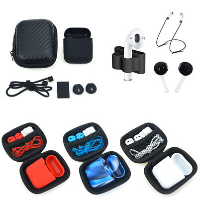 AU6.99 • Buy For Apple AirPods Accessories Silicone Cover Case+Anti Lost Strap+Ear Cover Hook