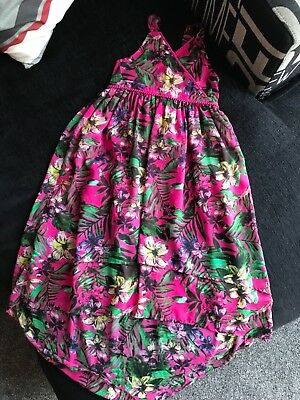 Girls Marks And Spencer's Floral High Low Summer Dress 9-10 • 3.99£