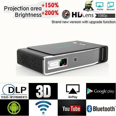 AU519.99 • Buy 8500Lumens DLP Android 3D 4K HD Projector Wifi BT Home Theater Cinema HDMI 2+32G