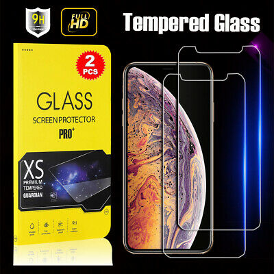 AU3.89 • Buy 2X Tempered Glass Screen Protector For IPhone 13 12 11 Pro MAX XR XS SE 7 8 Plus