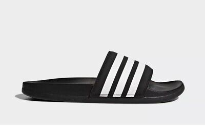 d8628b927ab0 New WOMENS Adidas ADILETTE Plus Cloudfoam AP9966 CF Slides Sandals Black  White • 34.99