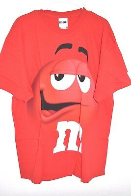 $16.99 • Buy New M&M's Candy Silly Face Red Adult T-Shirt