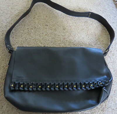 Black Messenger Style Bag Stud Detail Suedette Inside... Top Quality Mexx  • 4.50£