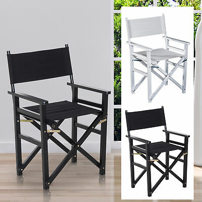 £27.99 • Buy Folding Directors Chair Wooden Furniture With Oxford Fabric Seat Home Office