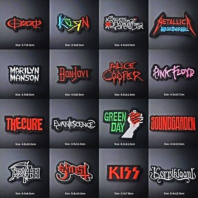 £0.99 • Buy DIY Embroidered Rock Metal Music Patches Band Patch Iron On / Sew On Bags Badge