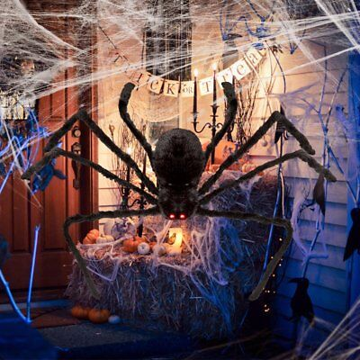 $ CDN14.11 • Buy Halloween Hanging Decoration 5ft Giant Realistic Hairy SPIDER Outdoor Yard Decor