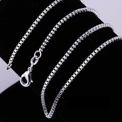 $ CDN1.55 • Buy Lot 5Pcs Sterling 925 Silver BOX Chain Necklace All Sizes Stamped 925 Free Ship