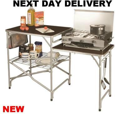 £251.84 • Buy New Fold Up Camping Kampa Colonel Field Tent Camp Kitchen Stand FK0011