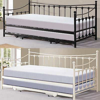 £214.99 • Buy Memphis 3ft Single French Style Design Bed Frame Pullout Trundle Guest Day Bed