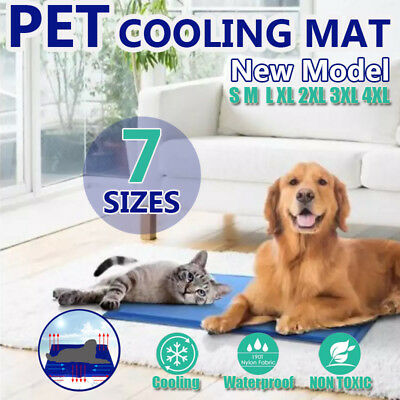 AU19.15 • Buy Pet Cool Gel Mat Dog Cat Bed Non-Toxic Cooling Dog Summer Pad 7 Sizes FAST POST