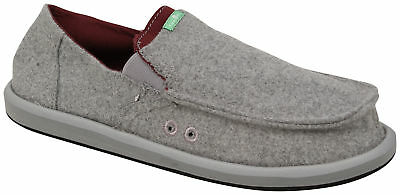 Sanuk Pick Pocket Felt Sidewalk Surfer - Grey - New • 47.32£