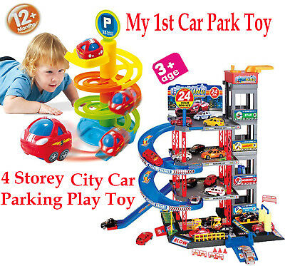 4 Storey City Car Park Auto Parking Garage Childrens Cars Play Set Toy Xmas Gift • 12.90£