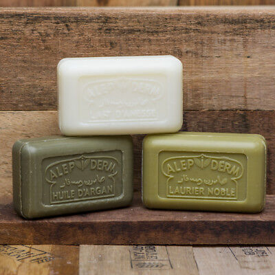 ALEPPO SOAP BARS - Donkey Milk, Argan & Laurel , SAVON DE MARSEILLE French Soap  • 3.25£
