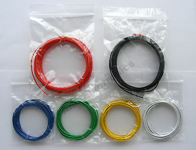 £3.29 • Buy 18m 1/0.6mm Equipment Wire Kit  - 22-23 AWG  - Single Solid Core 1.8A  WP-011317