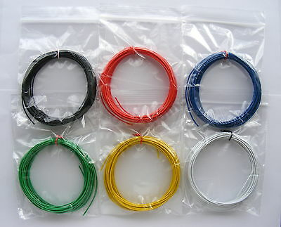 £4.96 • Buy 30m Equipment Wire Kit 1/0.6mm  22-23 AWG - 6 Colour Single Solid Core WP-011517