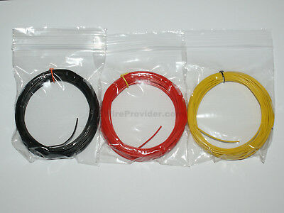 30m Equipment Wire 3 Colours 1/0.6mm - 22-23 AWG - Single Solid Core - WP-011516 • 4.66£
