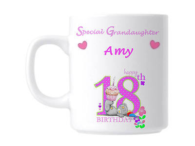 18th Personalised Birthday Special Grandaughter Novelty Gift Mug • 9.99£