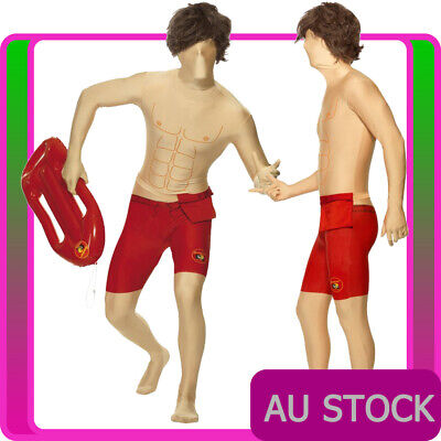 £8.29 • Buy Mens Baywatch Costume Morph Suits 80s Lifeguard 1980s Adults 2nd Skin Morphsuits