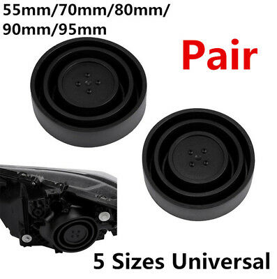 $14.95 • Buy Pair High Quality Flexible Rubber Seal Cap Dust Cover For Headlight Lamp Housing