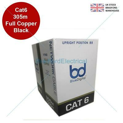 £119.99 • Buy 305M CAT6 UTP Outdoor Duct Grade Gigabit Network Cable, 23AWG Solid COPPER Cores