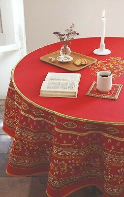 French Tablecloth Round 180cms, 100% Cotton, Provence Colours And Designs • 40£