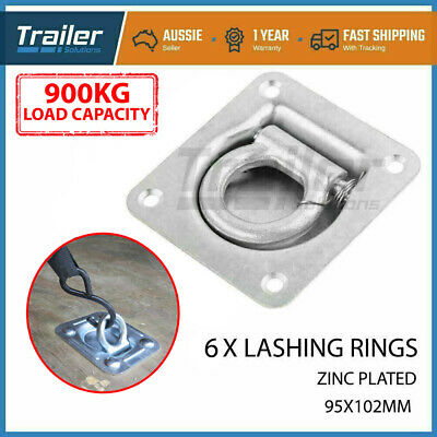 AU25.18 • Buy 6 X Heavy Duty Lashing Ring Tie Down Point Anchor Ute Tray Box Trailer Recessed
