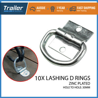 AU27.26 • Buy 10x Lashing D Ring Zinc Plated Tie Down Points Trailer Centre Hole 30mm Anchor