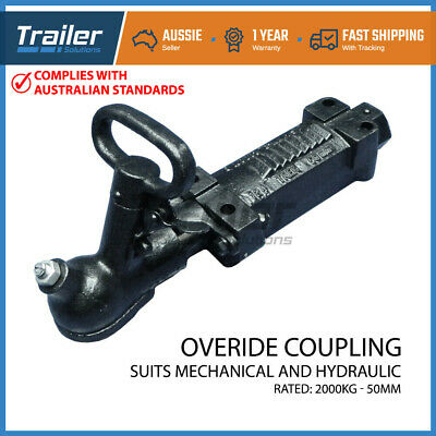 AU73.83 • Buy Hydraulic Trailer Coupling Hitch Override Over Ride Mechanical Brake Bracket 2T
