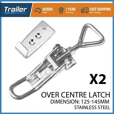 AU20.50 • Buy X2 TOGGLE FASTENER STAINLESS STEEL OVERCENTRE LATCH OVER TRAILER TRUCK UTE 4WD